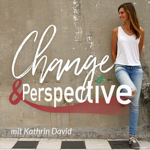 Podcast change and perspective Logo mit Kathrin David